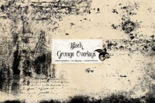 Print on Demand: 40 Black Grunge Overlays Graphic Textures By Digital Curio