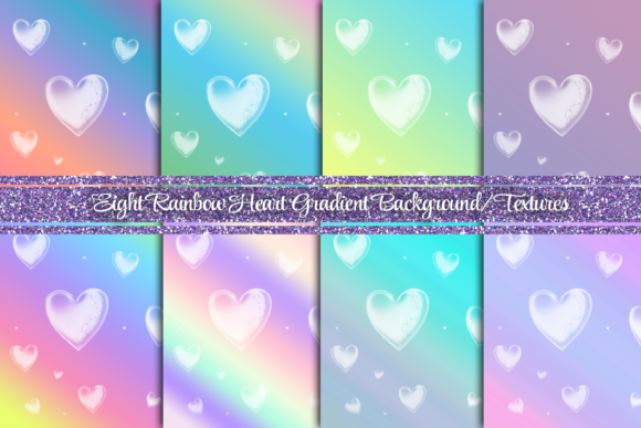 8 Heart Gradient Background Texture Graphic Backgrounds By AM Digital Designs