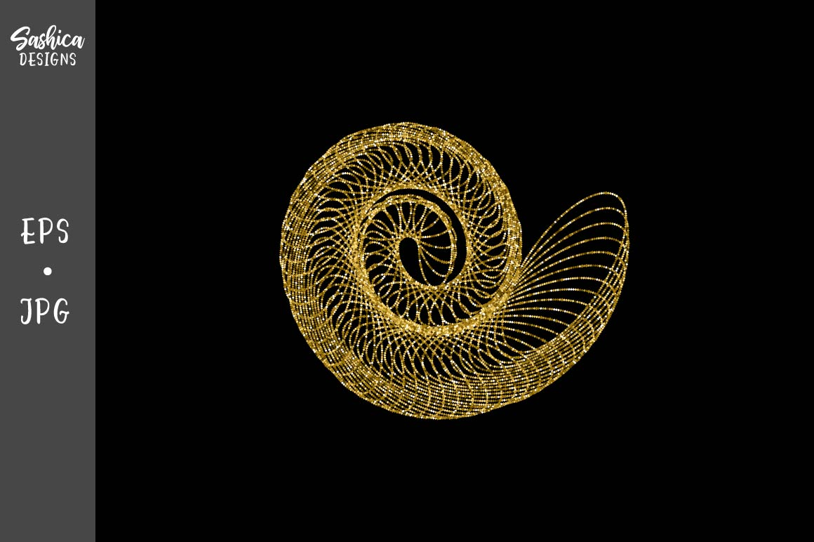 Abstract Nautilus Shell Vector Graphic By Sashica Designs