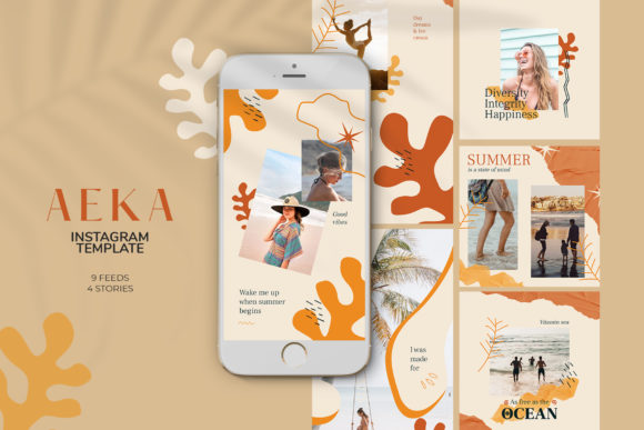 Aeka Instagram Templates Graphic Web Elements By qohhaarqhaz