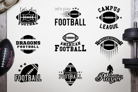 American Football Logos Bundle Retro  Graphic Logos By JeksonGraphics
