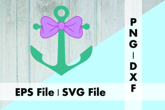 Download Free Anchor And Bow Design Graphic By Deespana Studio Creative Fabrica for Cricut Explore, Silhouette and other cutting machines.
