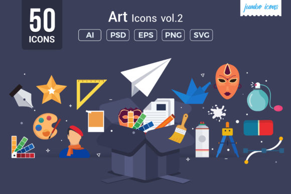 Print on Demand: Art Vector Icons Graphic Icons By jumboicons