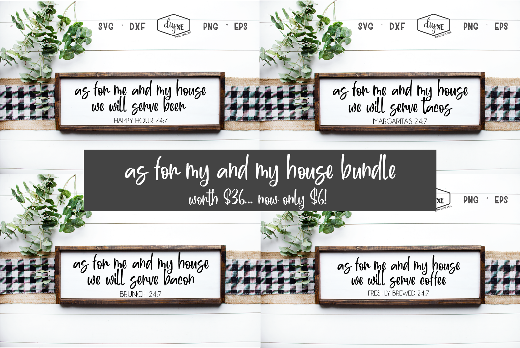Download Free As For Me And My House Bundle Graphic By Sheryl Holst Creative for Cricut Explore, Silhouette and other cutting machines.