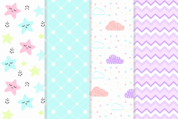 Download Free Baby Patterns Pastel Color Graphic By Azman Creative Fabrica for Cricut Explore, Silhouette and other cutting machines.