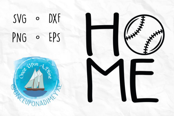Download Free Baseball Softball Home Sport Graphic By Onceuponadimeyxe for Cricut Explore, Silhouette and other cutting machines.