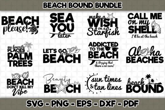 Print on Demand: Beach Bound Bundle - 12 Designs Included Graphic Crafts By SVGExpress