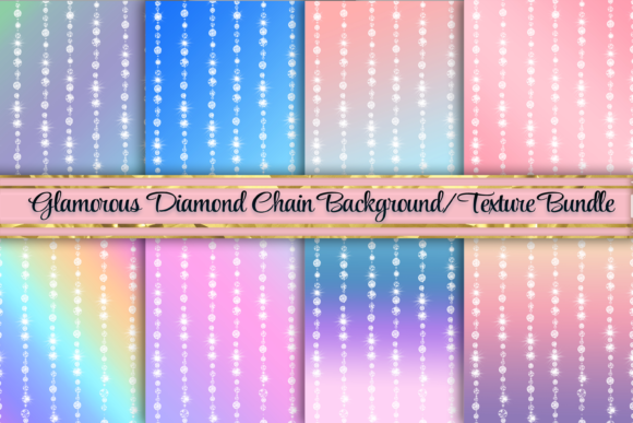 Print on Demand: Beautiful Diamond Ombre Backgrounds Graphic Backgrounds By AM Digital Designs