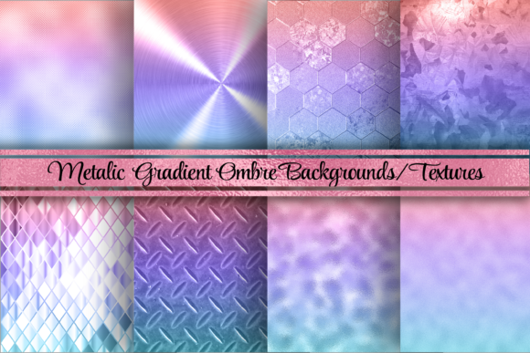 Beautiful Ombre Foil Background/Textures Graphic Backgrounds By AM Digital Designs