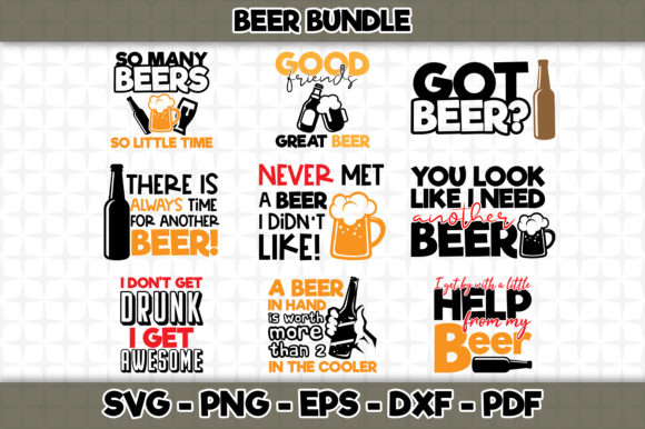 Print on Demand: Beer Bundle  Graphic Crafts By SVGExpress - Image 1