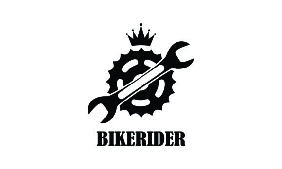 Download Free Bike Motorcycle Rider Logo Design Motor Graphic By Deemka for Cricut Explore, Silhouette and other cutting machines.