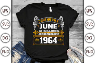 Print on Demand: Birthday T-shirt Design- Legends Were Graphic Print Templates By GraphicsBooth
