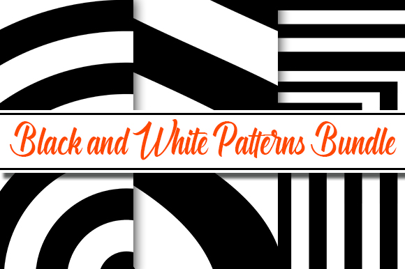 Download Free Black White Pattern Design Bundle Graphic By Masyafi Creative for Cricut Explore, Silhouette and other cutting machines.