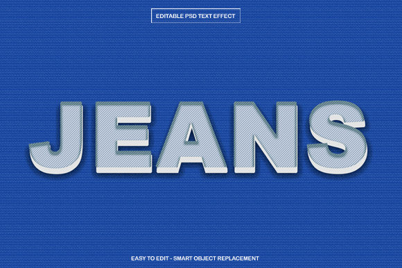 Download Free Blue Jeans Text Effect In Photoshop Graphic By Knou Creative for Cricut Explore, Silhouette and other cutting machines.