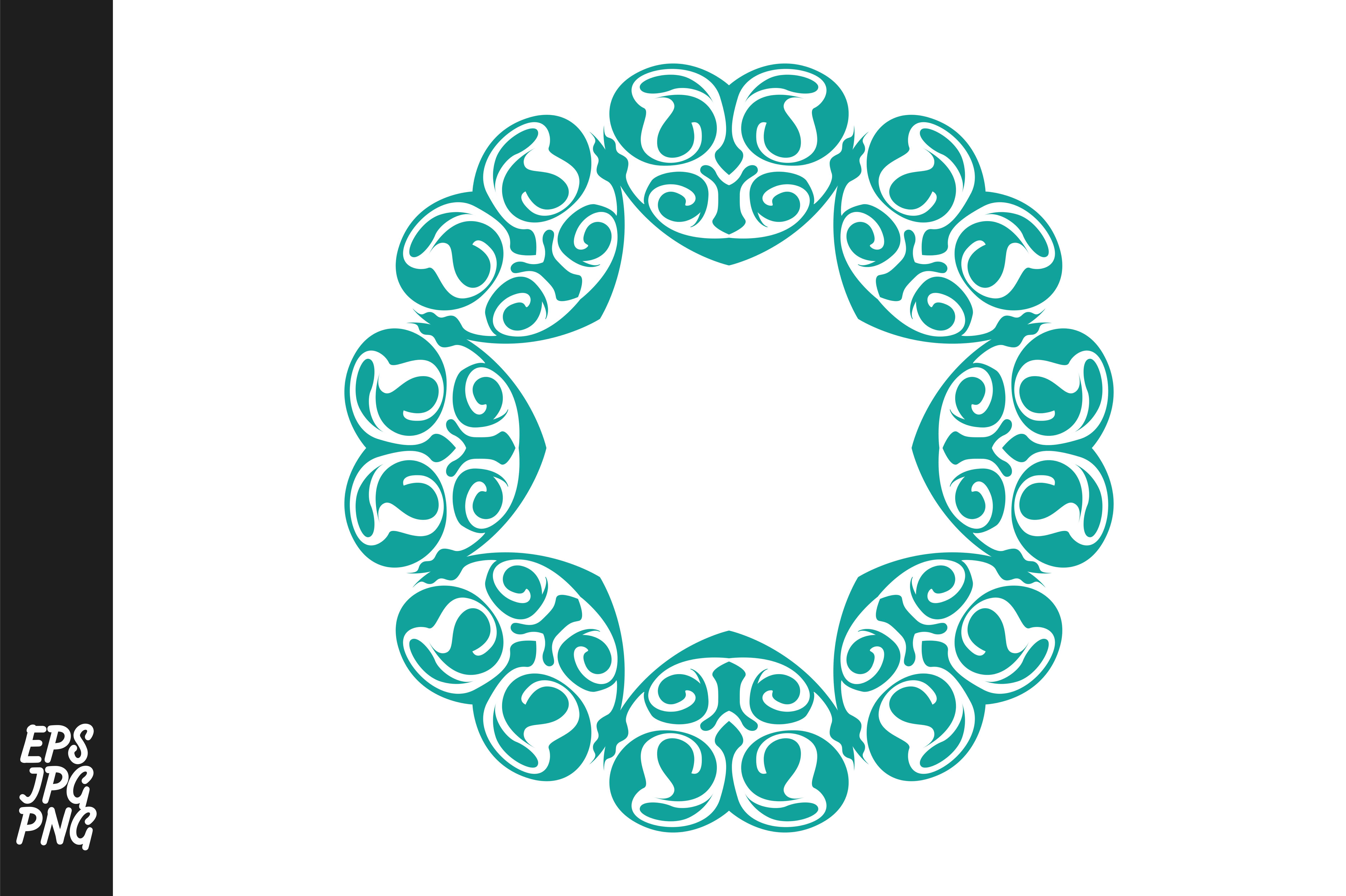 Download Free Blue Monogram Love Ornament Graphic By Arsa Adjie Creative Fabrica for Cricut Explore, Silhouette and other cutting machines.