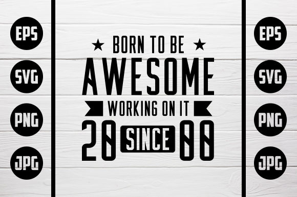 Print on Demand: Born to Be Awesome - 2000 Graphic Crafts By Zaibbb