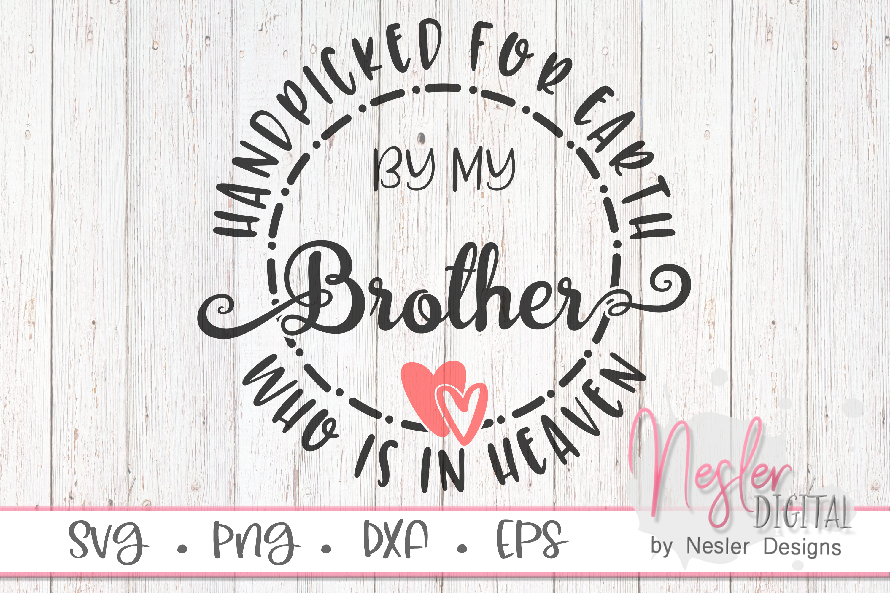 Download Free Brother In Heaven Graphic By Neslerdigitaldesigns Creative Fabrica for Cricut Explore, Silhouette and other cutting machines.