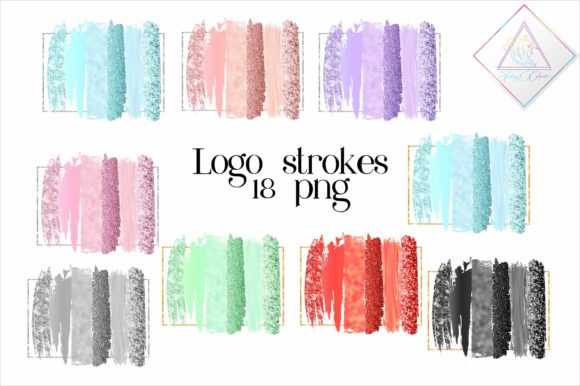 Print on Demand: Brush Strokes with Frames Clipart Graphic Illustrations By fantasycliparts