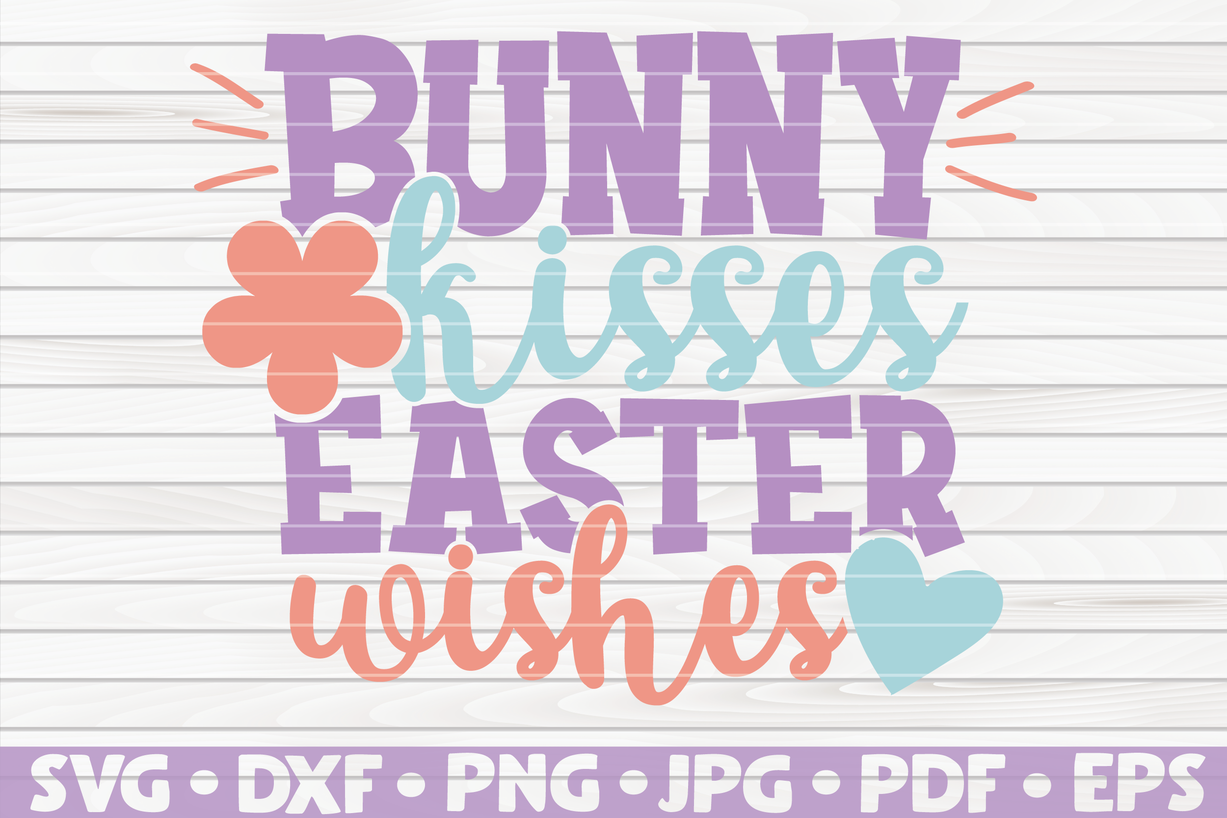 Download Free Bunny Kisses Easter Wishes Vector Graphic By Mihaibadea95 for Cricut Explore, Silhouette and other cutting machines.
