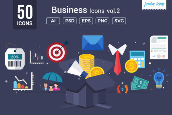 Print on Demand: Business / Corporate Vector Icons Graphic Icons By jumboicons