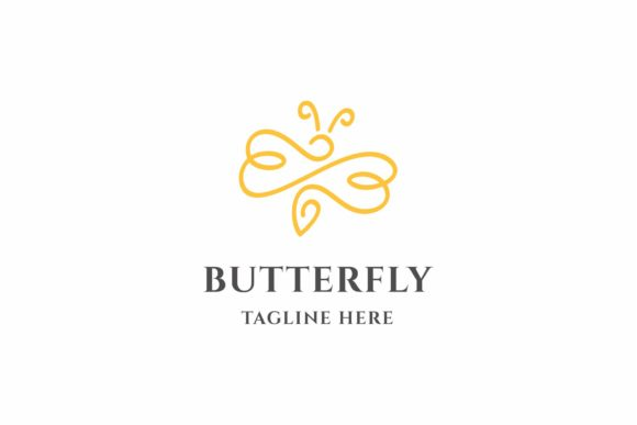 Butterfly Logo Graphic Logos By ZHR Creative