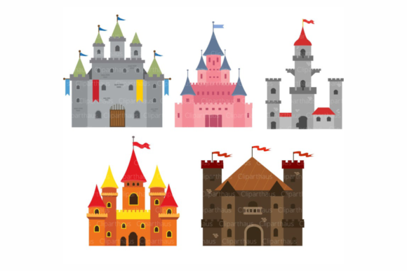 Print on Demand: Castle Clipart Vector Graphic Crafts By SVG DEN