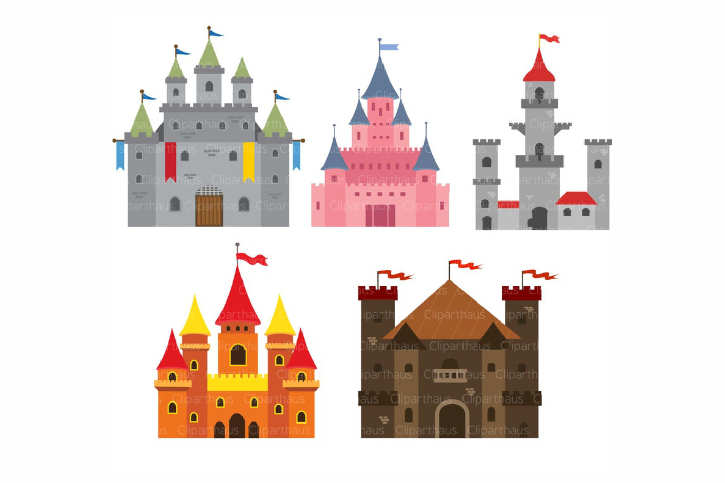 Download Free Castle Clipart Vector Graphic By Svg Den Creative Fabrica for Cricut Explore, Silhouette and other cutting machines.