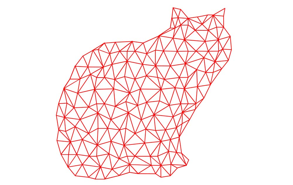 Download Free Cat Triangle Polygon Graphic By Vikshangat Creative Fabrica for Cricut Explore, Silhouette and other cutting machines.
