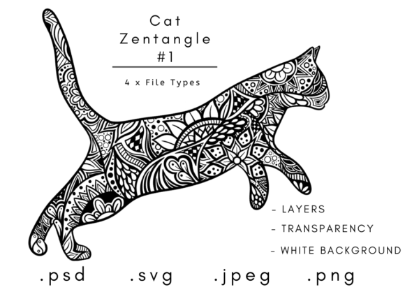 Print on Demand: Cat Zentangle 2 Graphic Coloring Pages & Books Adults By Linnypig Designs
