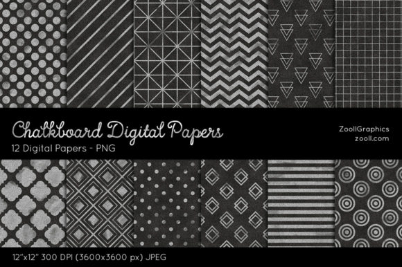 Chalkboard Textures Digital Papers Graphic Textures By ZoollGraphics