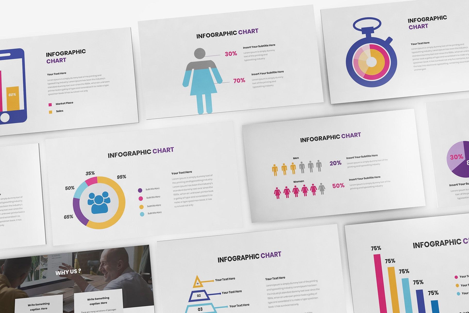 Download Free Chart Infographic Powerpoint Graphic By Formatikastd Creative for Cricut Explore, Silhouette and other cutting machines.