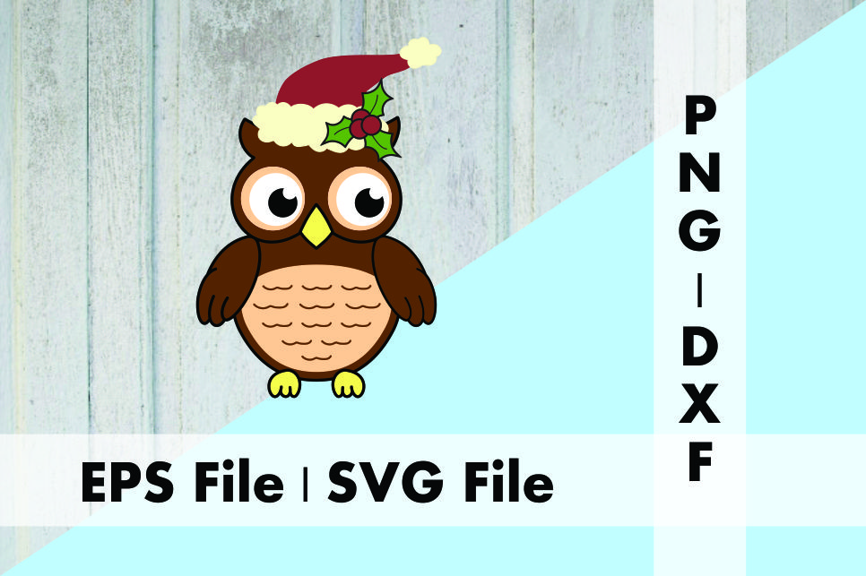 Download Free Christmas Owl Santa Hat And Holly Graphic By Deespana Studio for Cricut Explore, Silhouette and other cutting machines.