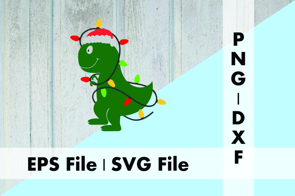 Download Free Christmas Tree Rex Dinosaur Graphic By Deespana Studio for Cricut Explore, Silhouette and other cutting machines.