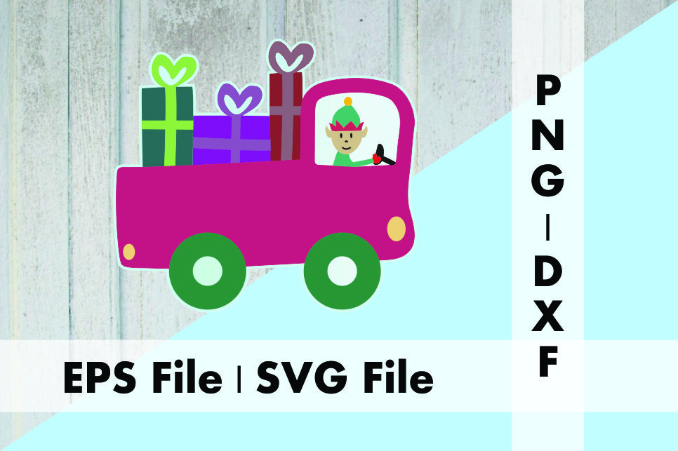 Download Free Christmas Truck With Elf Graphic By Deespana Studio Creative SVG Cut Files