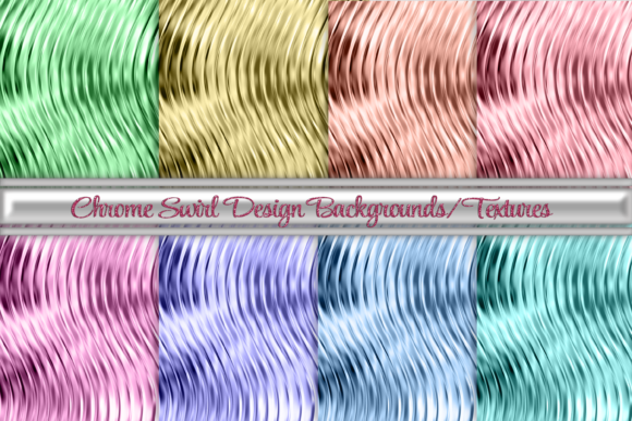 Print on Demand: Chrome Swirl Backgrounds and Textures Graphic Backgrounds By AM Digital Designs
