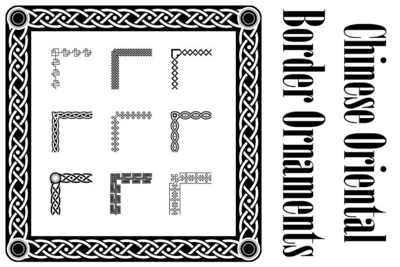 Print on Demand: Classic Celtic Ornament Frame Vintage Graphic Illustrations By anomali.bisu