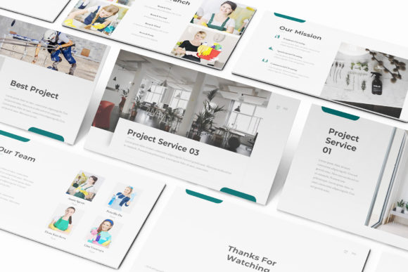 Download Free Cleaning Service Powerpoint Template Grafik Von Formatikastd for Cricut Explore, Silhouette and other cutting machines.