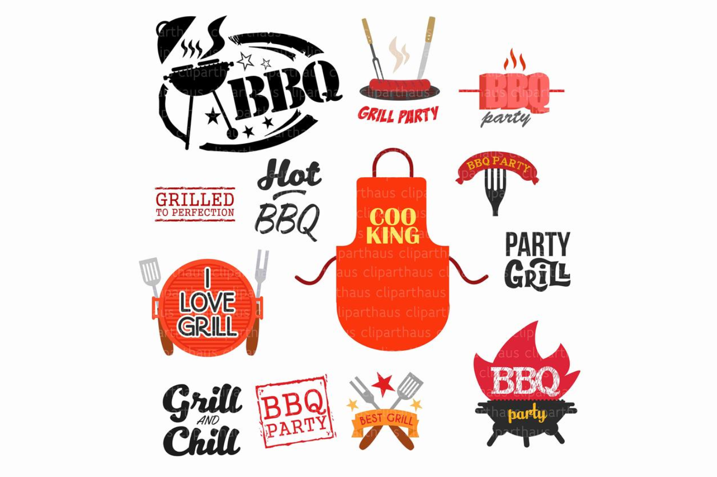 Download Free Clipart Barbeque Graphic By Svg Den Creative Fabrica for Cricut Explore, Silhouette and other cutting machines.