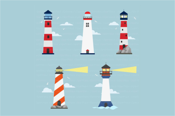 Download Free Clipart Lighthouse Graphic By Svg Den Creative Fabrica for Cricut Explore, Silhouette and other cutting machines.