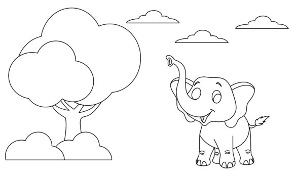 Coloring Book Animals to Educate Kids. Graphic Logos By 2qnah