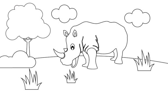 Coloring Book Animals to Educate Kids. Graphic Logos By DEEMKA STUDIO - Image 1