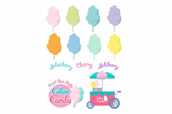 Download Free Cotton Candy Clipart Graphic By Svg Den Creative Fabrica for Cricut Explore, Silhouette and other cutting machines.