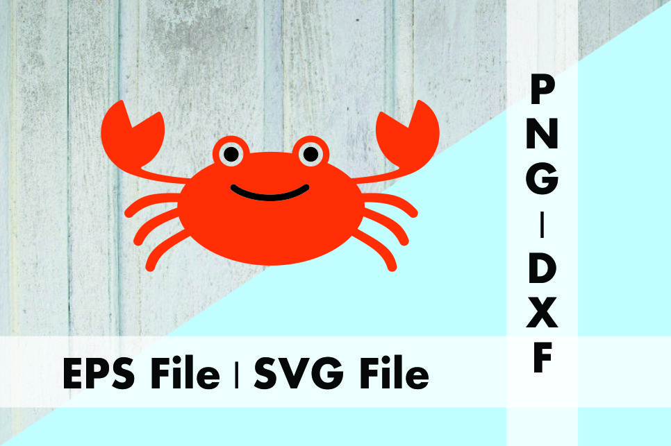 Download Free Crab Design Graphic By Deespana Studio Creative Fabrica for Cricut Explore, Silhouette and other cutting machines.