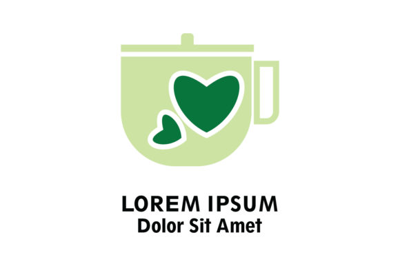 Cup and Love Logo Vector Graphic Crafts By Yuhana Purwanti