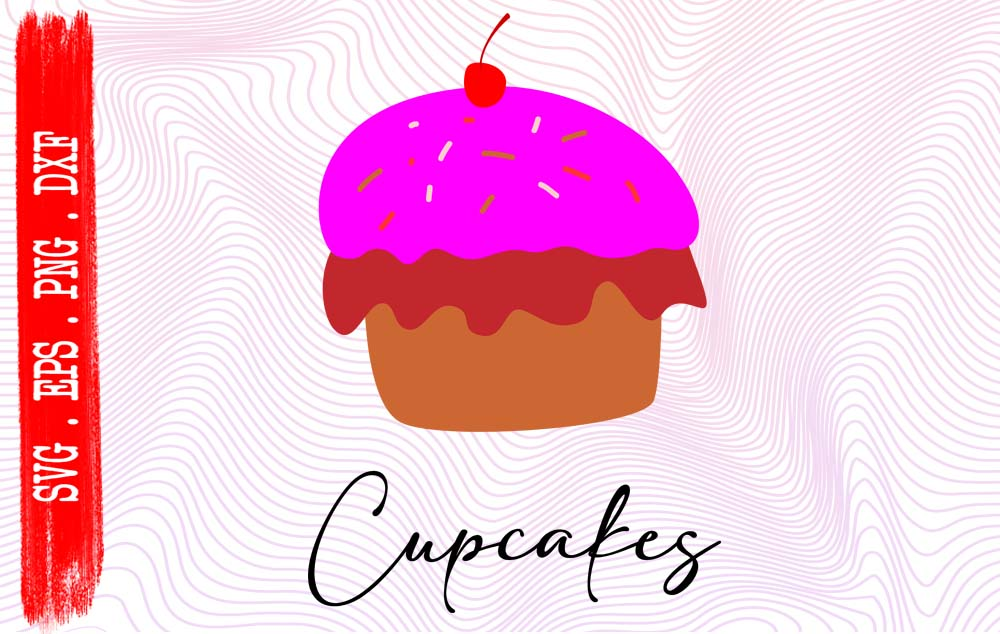 Download Free Cupcake Cute Cake Graphic By Vikshangat Creative Fabrica for Cricut Explore, Silhouette and other cutting machines.