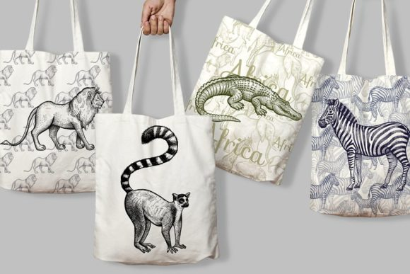 Cute African Animals Collections Graphic Illustrations By fedovaoglane