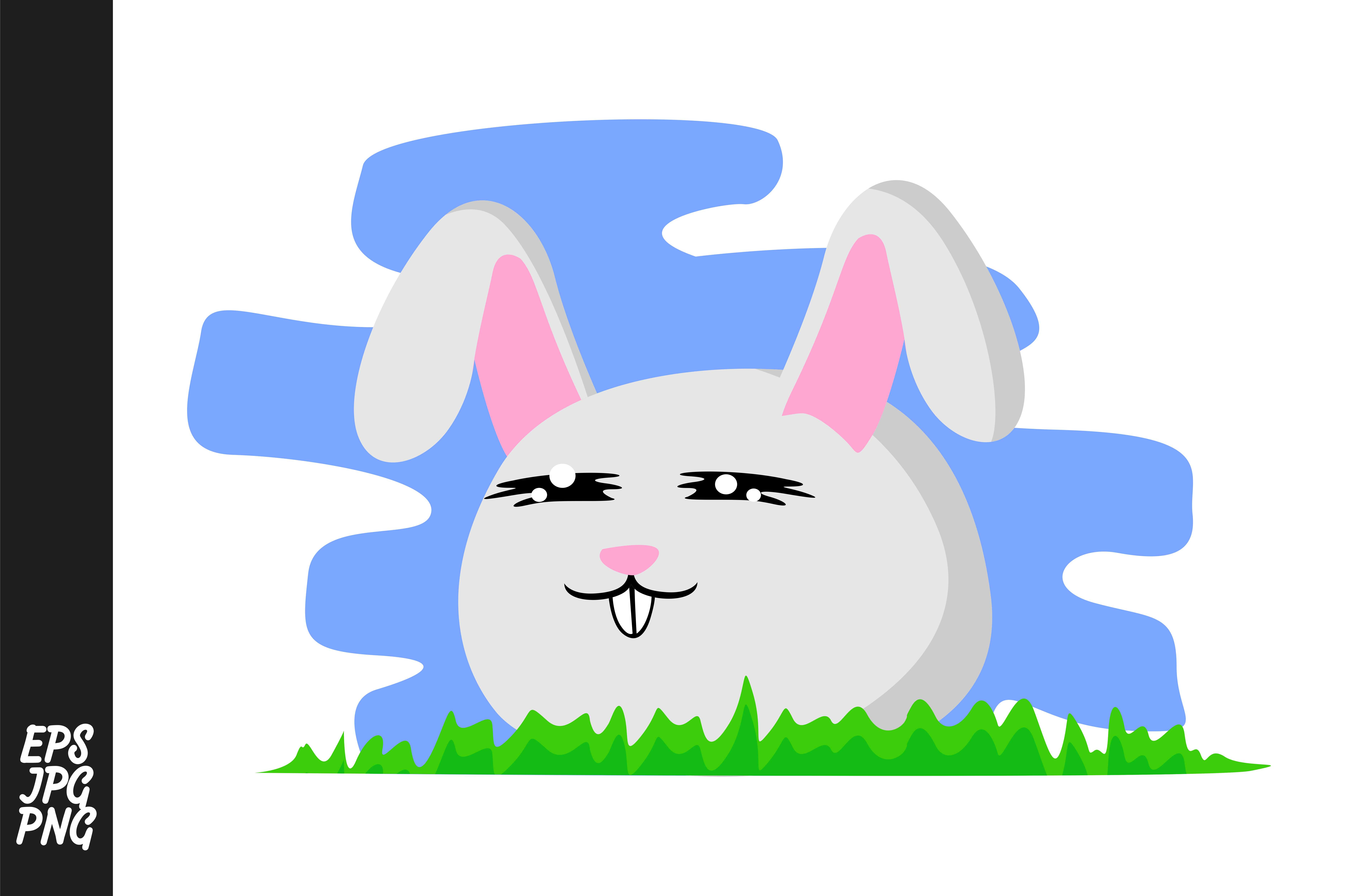 Download Free Cute Animals Rabbit Vector Graphic By Arief Sapta Adjie for Cricut Explore, Silhouette and other cutting machines.