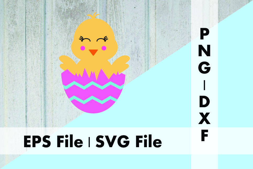 Download Free Cute Chick In Egg Design Graphic By Deespana Studio Creative for Cricut Explore, Silhouette and other cutting machines.