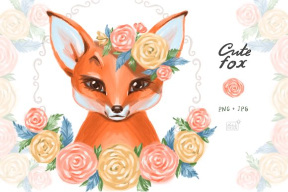 Cute Fox Cliparts Graphic Illustrations By NataliMyaStore