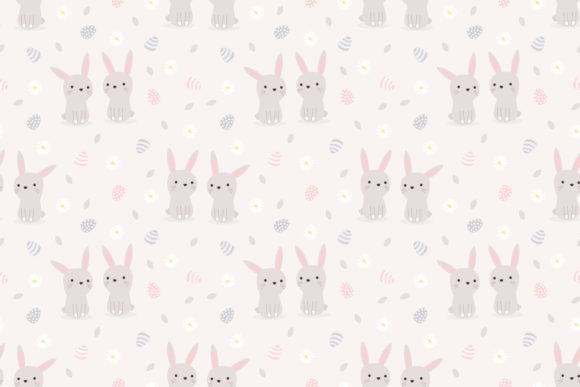 Download Free Cute Bunny And Easter Seamless Pattern Graphic By Thanaporn Pinp for Cricut Explore, Silhouette and other cutting machines.